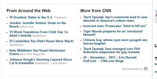 "What happens when ""click magnets"" collide with sponsored content and news"
