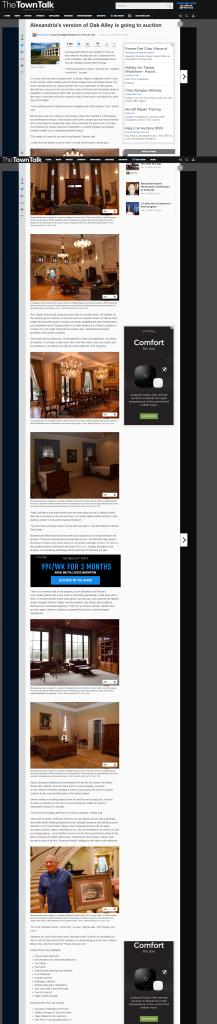 Alexandria, La., Town Talk story on Bonnette's luxury home auction
