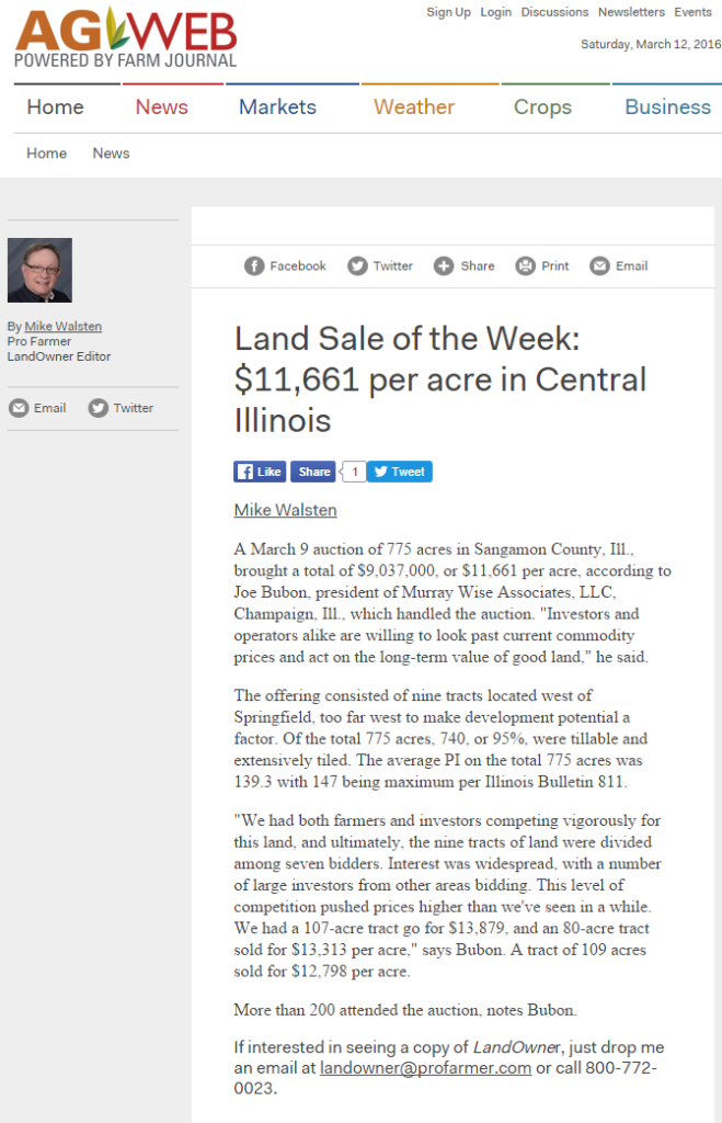 Murray Wise Associates auction makes Landowner Sale of the Week