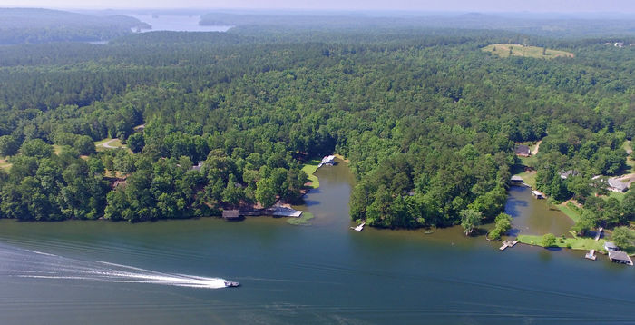 Luxury home on Chattahoochee above Lake Harding selling in online auction