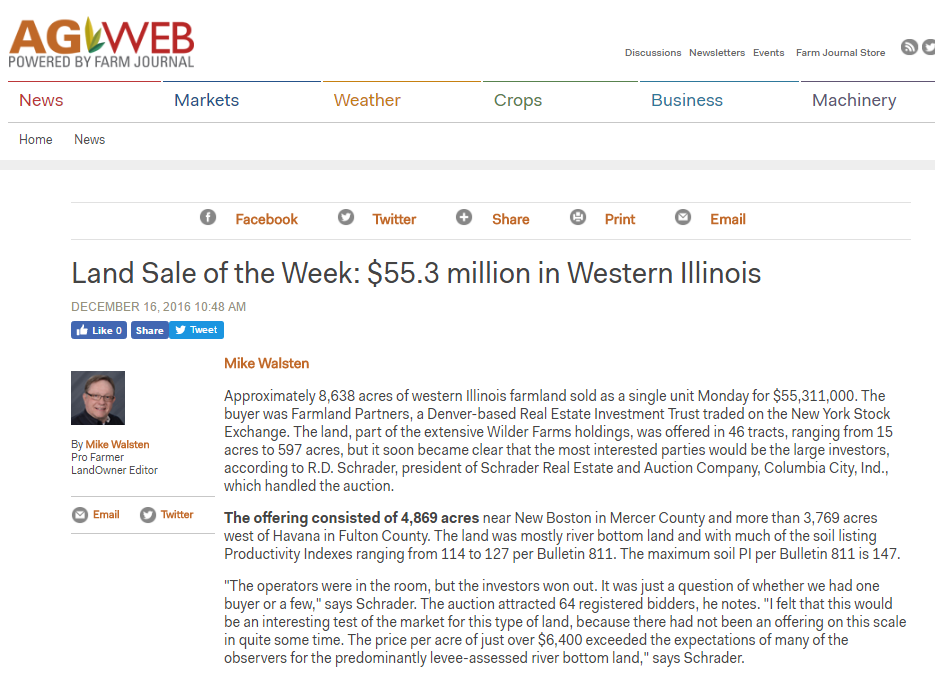 Illinois auction makes Land Sale of the Week