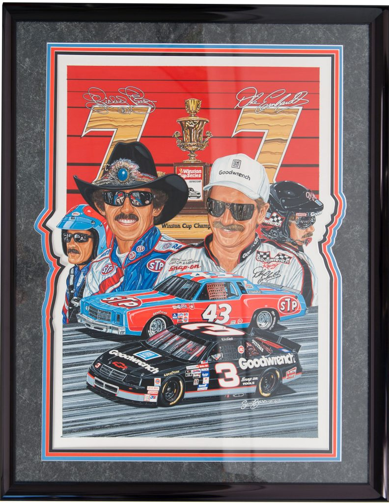 Original Artwork by Famed Nascar Artist Sam Bass To Sell at Auction
