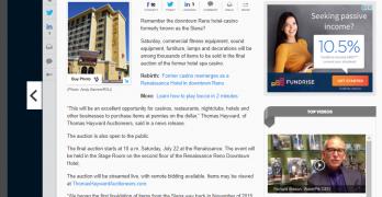 Reno Gazette-Journal story on Thomas Hayward auction